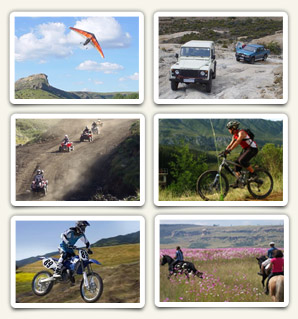 Fly-in, 4x4, Quads, Mountain Bikes, Off road, Horse back